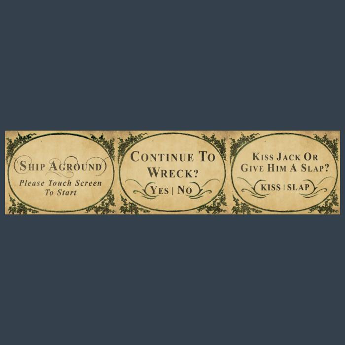 Ship Aground 18th century style user interface